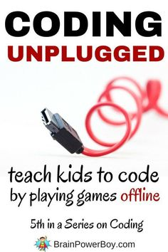 Do you want your kids to learn coding? Did you know you can teach kids to code by playing games offline? easy to learn coding games to play with kids that teach the concepts of coding. in a ho Computer Coding, Computer Programming, Computer Science, Computer Lab, Teaching Kids, Kids Learning, Teaching Biology, Teaching Tools, Computational Thinking