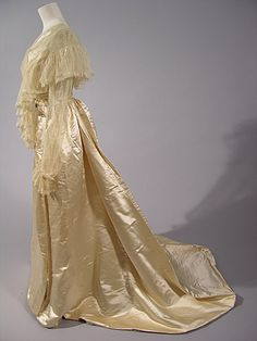 Evening Dress 1907, British, Made of silk, cotton, and lace