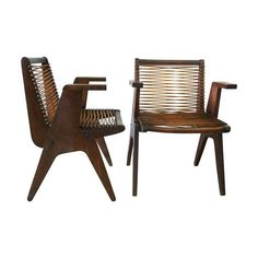 Wood chairs, perfect for indoors or out.