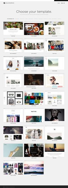 Templates from Squarespace (inspiration)