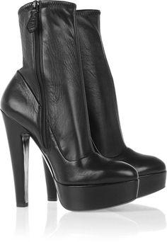 Alaia ~ Platform Leather Ankle Boots