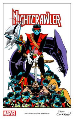 Nightcrawler and friends by Dave Cockrum from the cover of Marvel Age #31