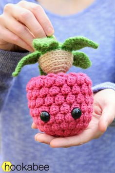 These three make one sweet trio! You can make all three patterns – the raspberry, blueberry, and strawberry – with this oneebook. Each berry is the perfect size to fit in your hand. Wh…