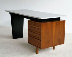 Van den Berghe Pauvers Jos De Mey modern office desk | 20th century Modern online gallery. Featuring a large and varied selection of quality vintage pieces | Shipping worldwide | http://www.furniture-love.com/browse.php
