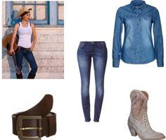 Cowgirl kleding en boots