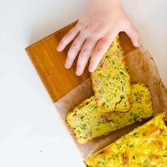Zucchini Slice is the perfect kid food. Lunch, Dinner or Breakfast, add to a lunch box, Baby Led Weaning. You Can't Go Wrong! #lunchbox #pickyeaters
