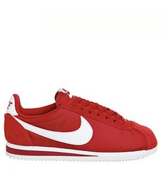 Nike Cortez Nylon Classic Gym Red White - Unisex Sports Zapatillas Nike Cortez, White Style, Red And White, Classic Cortez, Herringbone Pattern, White Nikes, Running Shoes, Trainers, Sneakers Nike