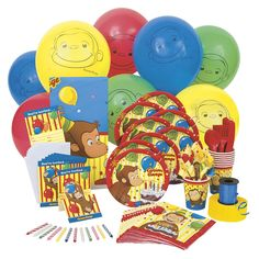 Buy Curious George Standard Party Kit for 8 at the PBS KIDS Shop.