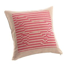 Decorative Pillows - Striped Horse Print Decorative Pillow Cover