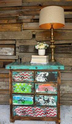 Funky home decor - Purely Interesting styling ideas. An article idea number 1716654690 stored under category funky home decor diy, imagined on 20190317 Vintage Furniture Design, Funky Furniture, Repurposed Furniture, Shabby Chic Furniture, Furniture Projects, Rustic Furniture, Furniture Makeover, Painted Furniture, Furniture Stores