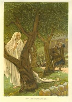 Christ appearing to Saint Peter - James Tissot