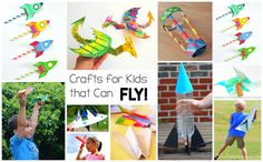15+ Crafts for Kids that Really Fly
