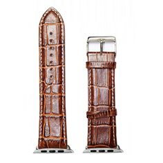 ff572671e8e Alexis 42mm Replace For Apple iWatch Genuine Leather Brown Watch Band Strap  Vintage Watches Women