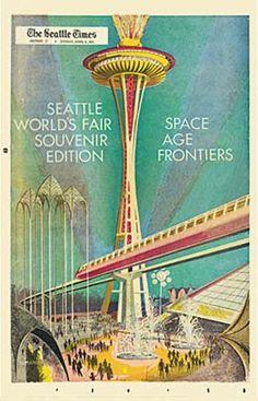 Seattle Times Worlds Fair Souvenir Edition 1962. I love the colors