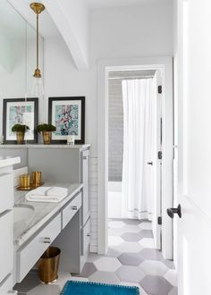 stylish gray bathroom