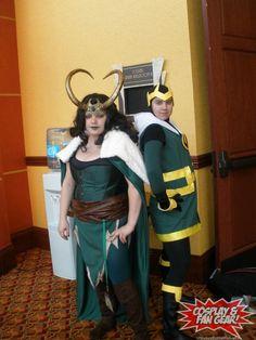 An amazing Lady Loki and an awesome Kid Loki #cosplay !