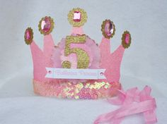 Ballet Party crown hat for Ballerina Birthday Party