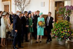 Thursday, 16 April 2015 there was an official reception and lunch reception at the City Hall on the occasion of HM the Queen's 75th birthday.  On arrival at the town hall was the Queen received by Mayor Frank Jensen.