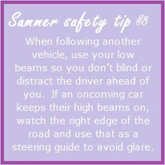 Summer safety tip - Eat health and often! It may be tempting to make a quick stop for fast food, a heavy burger and greasy fries will quickly make you feel tired. Healthy snacks every few hours will give you more energy and help keep you alert longer. Road Safety Tips, Summer Safety Tips, Used Ford, Ford News, Feel Tired, Make You Feel, Helpful Hints, Feelings, Blind
