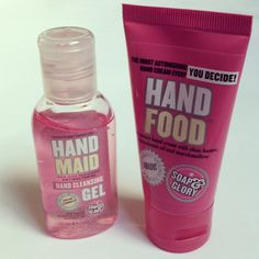 Soap and Glory 'Hand Food' and 'Hand Maid'.