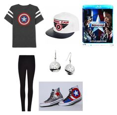 """Team Cap"" by bellev17 ❤ liked on Polyvore featuring JEM, Winser London, Marvel, contestentry and CaptainAmericaCivilWar"