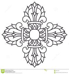 Sacred Buddhist Religious Symbol - Vajra Or Dorje,vector Stock ...