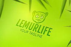 Lemur Animal Logo. By Steinar Logo on @creativemarket