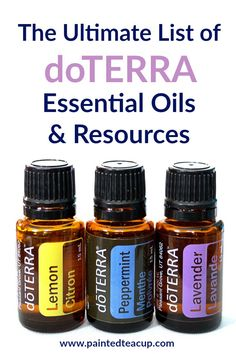 The Ultimate List of doTERRA Essential Oils & Resources