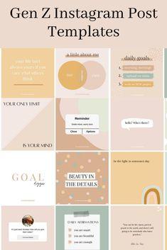 Instagram Feed Ideas Posts, Instagram Feed Layout, Instagram Post Template, Instagram Design, Instagram Quotes, Social Media Template, Social Media Design, Social Media Posts, Social Media Branding