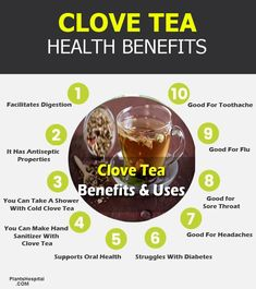 Clove tea can be used to deal with a few minor digestive complaints, such as diarrhea and gas. Also, it has germ-killing, anti-fungal and analgesic propert Cloves Health Benefits, Herbal Tea Benefits, Coconut Benefits, Green Tea Benefits, Herbal Teas, Tumeric Tea Recipe, Clove Tea, Tea For Digestion, Healing Herbs