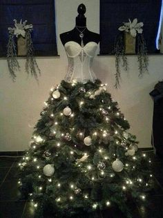 Dress Form/Mannequin Christmas Tree Satin by CarolinaBellDesigns
