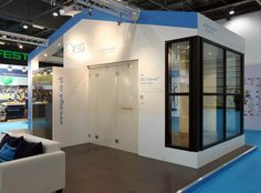 ESG Switchable LCD Privacy Glass at Ecobuild 2013. See www.esgswitchableglass.co.uk