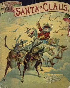 Around the world with Santa Claus  book cover McLoughlin Bros.
