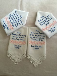 Set of four 4 Mother of the groom/bride and by BrideEmbroidery