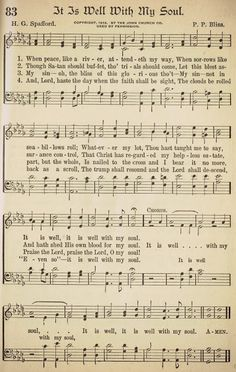 It is Well with My Soul is one of my all time favorite songs, from the message of the hymn, to the story of how it was written, to the story of the author Horatio Gates Spafford.