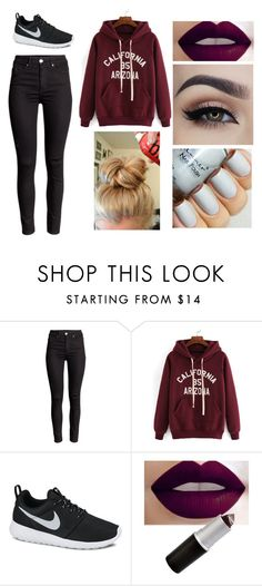 """Lounging around"" by caitlynlovespoohbear on Polyvore featuring beauty and NIKE"