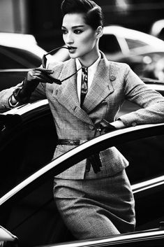 Bruna Tenorio photographed by Txema Yeste for Marie Claire, September 2012 androgynous Business Attire, Business Fashion, Business Women, Business Chic, Business Lady, Office Fashion, Marie Claire, Fashion Moda, Suit Fashion