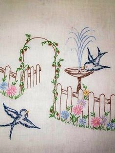 My Grandmother embroidered this design on pillow cases