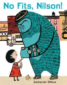 No Fits, Nilson! by Zachariah OHora. Young children with gorilla-sized tantrums will easily identify with and  laugh at the little girl and gorilla who help one another.