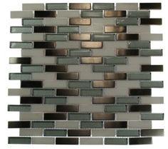 alloy polar winds 1/2x2 brick pattern glass tile - shop glass tiles at glasstilestore.com