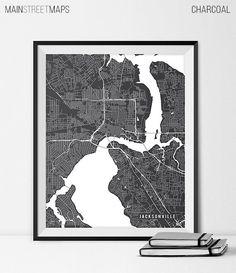Jacksonville Map Print Jacksonville Poster of by MainStreetMaps https://www.etsy.com/listing/226645431/jacksonville-map-print-jacksonville?ref=shop_home_active_6