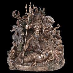 "Court Of Neptune Rex Shellback Bronze 10"" x 7"" x 10 1/2"" Statue $99.95"