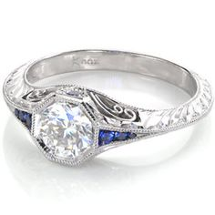 Design 2831 - Knox Jewelers - Minneapolis Minnesota - Hand Engraved Engagement Rings - Large Image