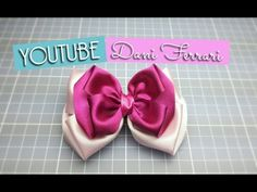 Tutorial passo a passo. How to make a ribbon bow hair. Kanzashi Tutorial, Bow Tutorial, Ribbon Hair Bows, Diy Hair Bows, How To Make A Ribbon Bow, Disney Bows, Making Hair Bows, Girls Bows, Easter Crafts