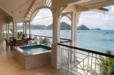 This can be your honeymoon balcony in St. Lucia!  #The Landing Resort, #https://www.jazzydestinationstravel.com