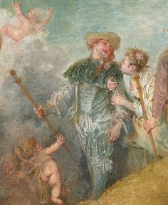 Watteau and the century painting Pilgrimage to Cythera, art history Human Wings, Jean Antoine Watteau, Nicolas Poussin, Art With Meaning, Divine Light, Edgar Degas, Paul Cezanne, Baroque Fashion, Cherub