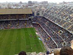 Mestalla Stadio, Valencia in the 1980s.