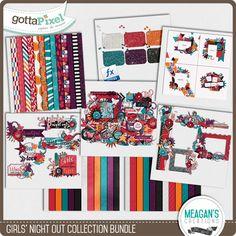 Girls' Night Out Collection Bundle :: Gotta Grab It :: Gotta Pixel Digital Scrapbook Store