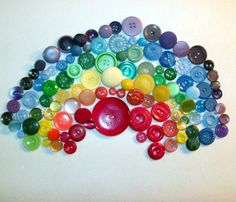 Great Etsy Shop Display $10.00 for a Rainbow of Buttons! :)