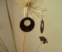 Wooden earrings. by Stelakastela on Etsy